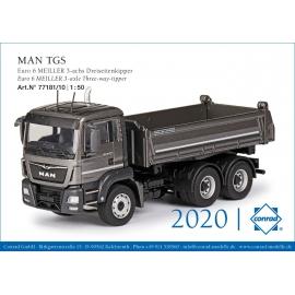 77181 Conrad MAN TGS Euro 6 6x4 Benne Meiller