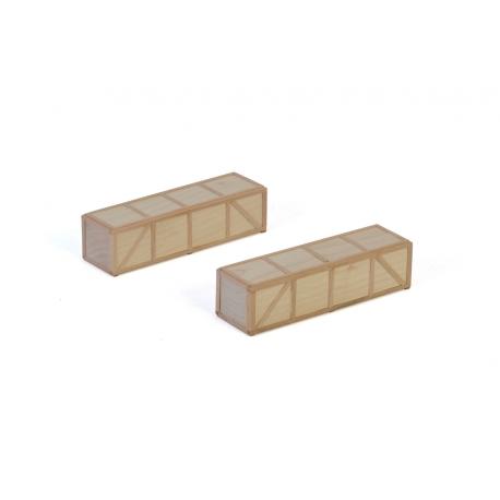 12-1043 WSI Wooden Box 150x38x42mm (2x)